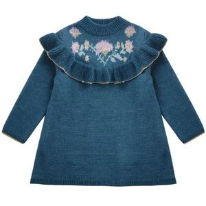 New beautiful blue knit dress